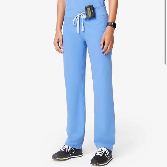 Figs Livingston Scrub Pants in Ceil Blue sz M